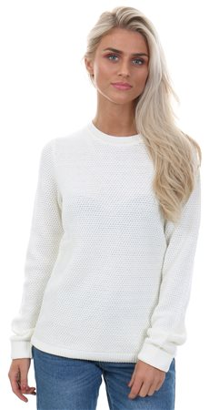 Vila Pristine / White Vichassa Knitted Top  - Click to view a larger image
