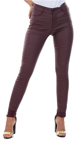 Vila Wine / Winetasting Coated Skinny Fit Jeans  - Click to view a larger image