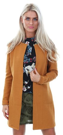 Vila Yellow / Cathay Spice Simple. Long Vinaja Jacket  - Click to view a larger image