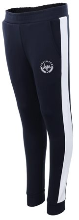 Hype Navy/White Colour Block Crest Track Joggers  - Click to view a larger image