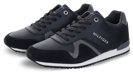 Hilfiger Denim Midnight Materiald Mix Trainer  - Click to view a larger image