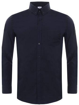 Hype Navy Insignia Long Sleeve Plain Shirt  - Click to view a larger image