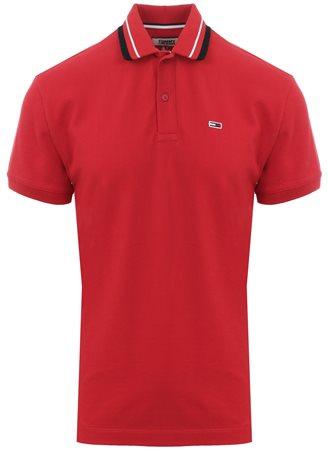 Hilfiger Denim Samba Red Classics Short Sleeve Polo Shirt  - Click to view a larger image