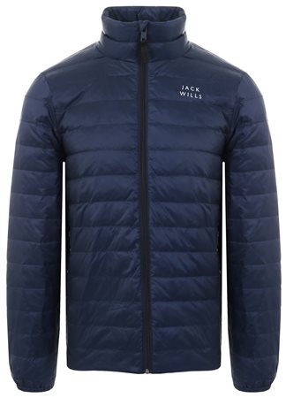 Jack Wills Navy Nevis Lightweight Down Jacket  - Click to view a larger image