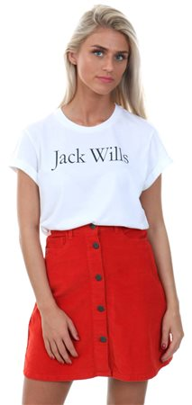Jack Wills White Forstal Boyfriend T-Shirt  - Click to view a larger image