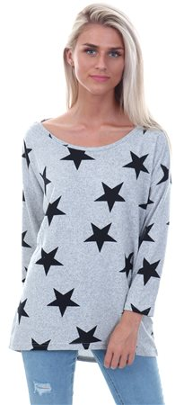 Only Light Grey Round Neck Sweater  - Click to view a larger image