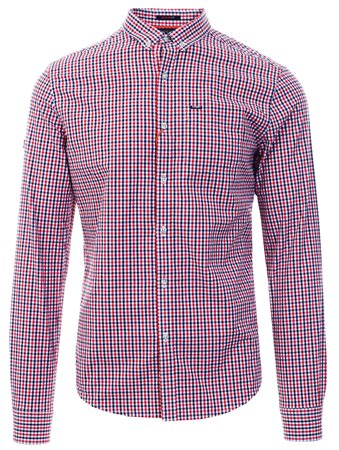 Superdry Lamont Red Check Ultimate University Oxford Shirt  - Click to view a larger image