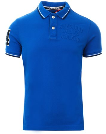 Superdry Cobalt Classic Super Tri Polo Shirt  - Click to view a larger image