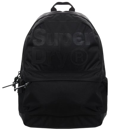 Superdry Black Pinstripe Montana Rucksack  - Click to view a larger image