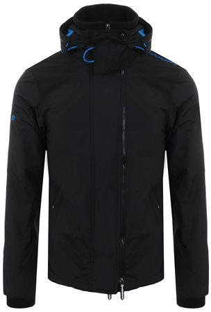 Superdry Black / Super Denby Pop Zip Arctic Hooded Sd-Windcheater Jacket  - Click to view a larger image