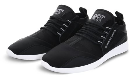 Superdry Black Super Lite Runner Trainers  - Click to view a larger image