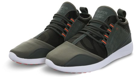 Superdry Khaki Super Lite Runner Trainers  - Click to view a larger image