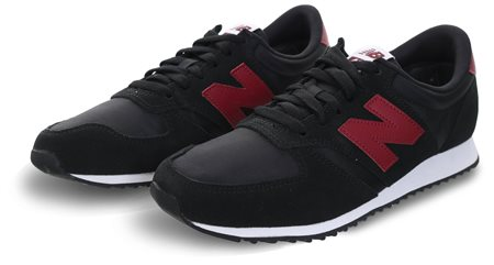 New Balance Black With Burgundy 420 Trainer  - Click to view a larger image