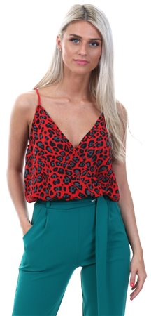 Lexie   Lola Red Animal Print Cami Bodysuit - Click to view a larger image c98c937e2
