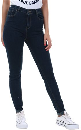 Superdry Blue Black Sophia Skinny Jeans  - Click to view a larger image