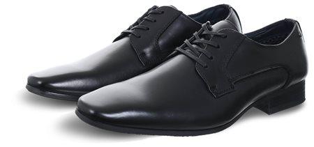 Escape Black Inst Lace Up Leather Shoe  - Click to view a larger image