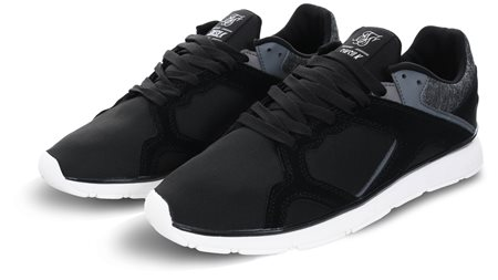 76978b6039a84 Siksilk Black Zonal Panel Runner Trainer | | Shop the latest fashion ...