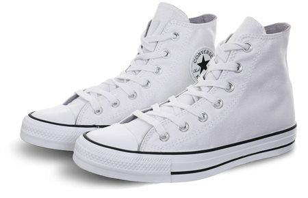 d37c41b09fa1 Converse White/Black Chuck Taylor All Star Sparkle High Top - Click to view  a