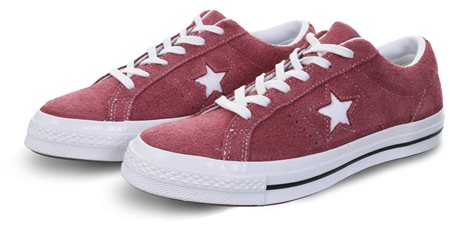 Converse Bordeaux One Star Premium Shoe  - Click to view a larger image