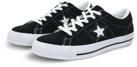 Converse Black White One Star Premium Suede  85e775dc2