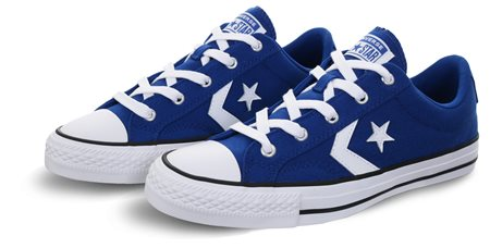 Converse Blue/White Star Player Premium Suede  - Click to view a larger image