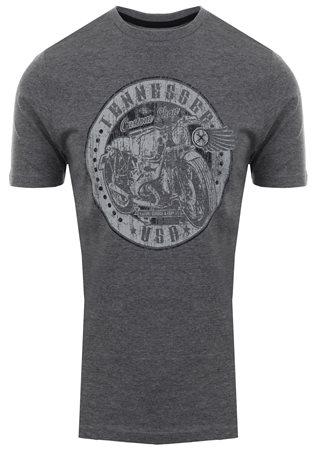 Tokyo Laundry Mid Grey Marl Custom Shop Printed T-Shirt  - Click to view a larger image
