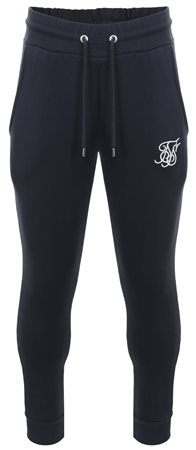 Siksilk Navy Muscle Fit Standard Cuffed Jogger  - Click to view a larger image