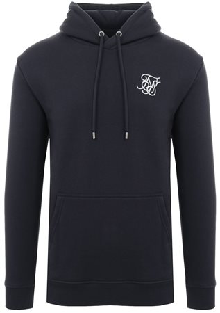 Siksilk Navy Muscle Fit Overhead Hoodie  - Click to view a larger image