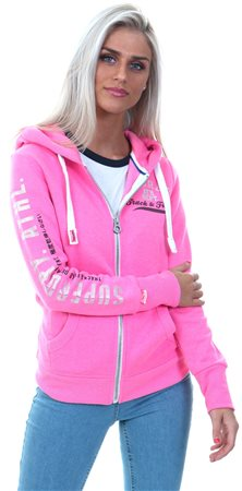 Superdry Track Hot Pink Track & Field Zip Hoodie  - Click to view a larger image