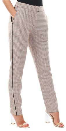 Style London Yellow Houndstooth Check Trousers  - Click to view a larger image