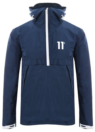 11degrees Navy Insignia - Waterproof Hurricane Jacket  - Click to view a larger image
