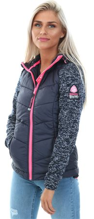 Superdry Navy Blizzard Storm Hybrid Zip Hoodie  - Click to view a larger image