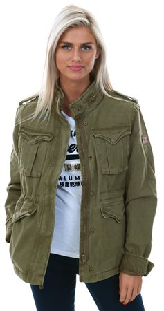 c87b983c80689 Superdry Dark Khaki Classic Winter Rookie Military Jacket - Click to view a  larger image