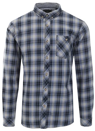 Tokyo Laundry Blue Roma Long Sleeve Check Shirt  - Click to view a larger image