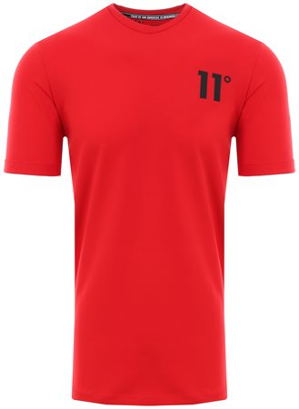 11degrees Red Muscle Fitted S/Sleeve T-Shirt  - Click to view a larger image