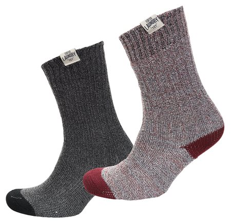 Tokyo Laundry Black/Oxblood Harv Socks 2 Pack  - Click to view a larger image