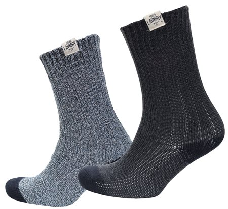Tokyo Laundry Navy Harv Knitted Socks 2 Pack  - Click to view a larger image