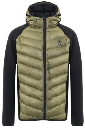 Gym King Olive Bones Zip Up Padded Jacket  - Click to view a larger image