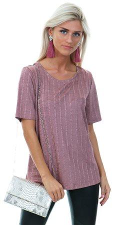 Vila Ash Rose Linette Short Sleeve T-Shirt  - Click to view a larger image