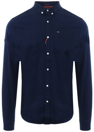 Superdry Indigo Ultimate Herringbone Shirt  - Click to view a larger image