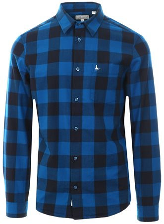 Jack Wills Navy/Blue Salcombe Lw Flannel Check Shirt  - Click to view a larger image