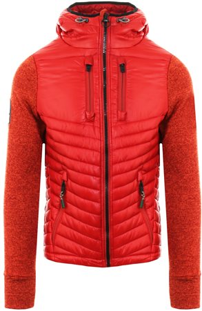 Superdry Burnt Orange Storm Hybrid Zip Hoodie  - Click to view a larger image