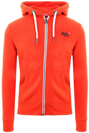 Superdry Orange Campfire Grit Orange Label Zip Hoodie  - Click to view a larger image