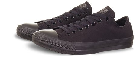 Converse Black Mono Lace Up Trainer  - Click to view a larger image