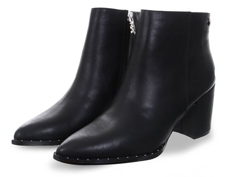 Xti Black Side Zip Ankle Boot  - Click to view a larger image