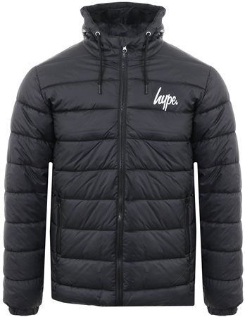 Hype Black Padded Logo Jacket  - Click to view a larger image