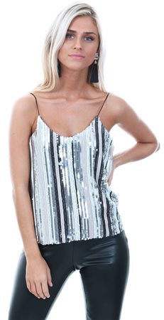 85f4b4a30e7 Cutie London Cream Sequin Cami Top - Click to view a larger image
