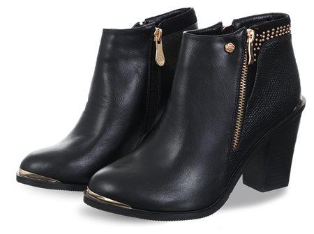 334c1e81162 Zanni Black Lucia One Stud Ankle Boot