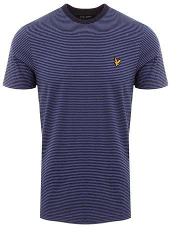 Lyle & Scott Dark Blue Feeder Stripe T-Shirt  - Click to view a larger image