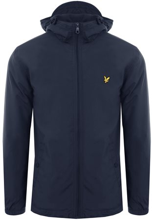 Lyle & Scott Dark Navy Microfleece Lined Zip Through Jacket  - Click to view a larger image
